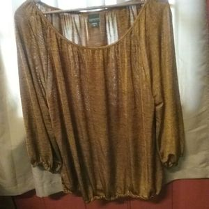 Covington bronze gold metallic dress blouses